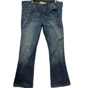 William Rast Men Billy Flare Jeans Button USA 33